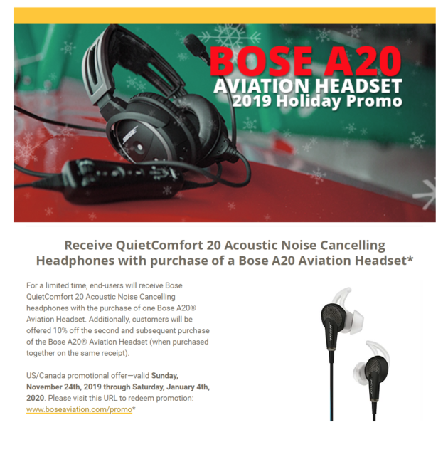 Bose A20 2019 Holiday Promo